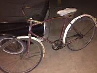 Velo Bicyclette CCM antique vintage complet badge bleu