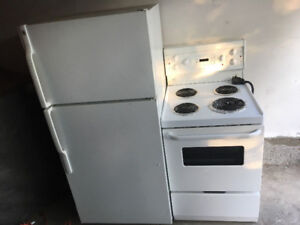 """399 for both apartment size 28w28d62h fridge and 24"""" stove"""