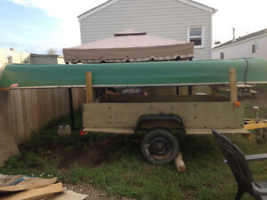 Canoe with trailer