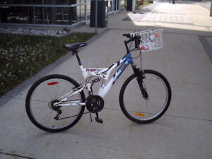 FULL SUSPENSION ADULT ROAD AND TRAIL BICYCLE/GROCERY GETTER