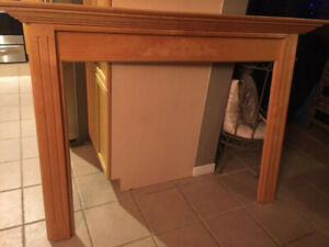 Solid maple fireplace mantel