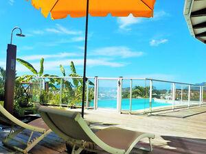 Bungalow de charme magnifique vue mer piscine