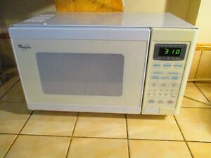 Small Whirlpool microwave  -works excellent!