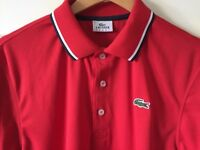 Men's Genuine Red Lacoste Sport Polo T Shirt Size 4