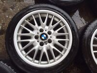 "17"" BMW MV1 ALLOY WHEELS FOR BMW COMPACT 316 1 SERIES 3 SERIES SET OF 4"