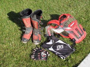 Motocross boots and gear