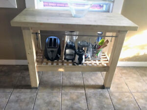 Ikea groland butcher block kitchen island table