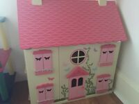 Wooden Dolls House - Asda