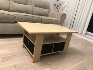 Set of Apartment Size Coffee Table, TV Stand and Side Table
