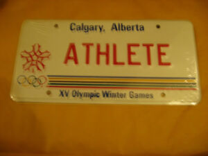 LICENSE PLATE CALGARY 1988 OLYMPIC  GAMES
