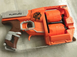 Buy Nerf Zombie Strike Flipfury Blaster Toy For Kids - Multi Color Online  at Low Prices in India - Amazon.in