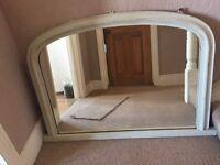 Antique mantelpiece mirror