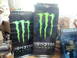 2 monster drink promotional cans