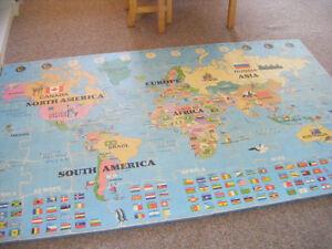 Giant World Map Floor Puzzle