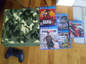 PS4 Slim 1TB camo with Red Dead & more