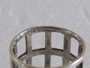 Sterling Silver stamped ring Size 8 London Ontario image 3