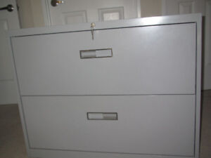 2 drawer, lateral filing cabinet with keys