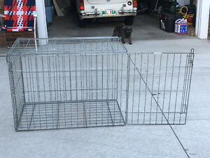 Collapsible wire dog crate