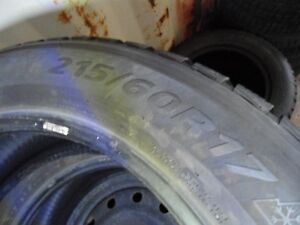 pair 215 60 17 set of two!  ONLY 2 tires ( not four)