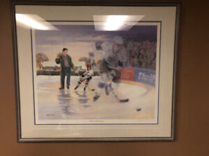 Gretzky (a boy and his dream) print  by James lumbers