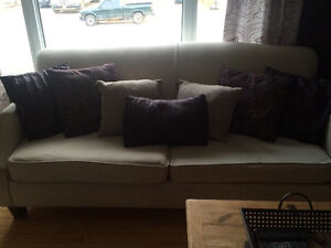 Linen colour couch and love seat