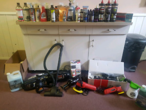 Brand new never used detailing equipment and detailing products