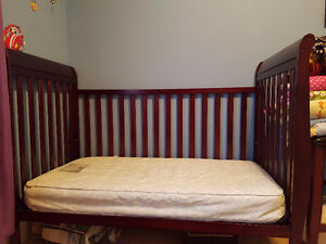 Baby crib with the mattress