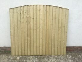 🛠 New Top Quality Bow Top Feather Edge Fence Panels * Tanalised * 🆕