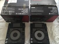 CDJ 2000 Nexus pair (excellent condition)