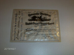 U.S. COAST GUARD-FIREMAN-1946 HONORABLE DISCHARGE-H.A. ANTON