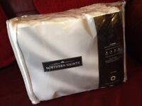 Brand new Nothern nights 100% cotton double duvet set from QVC