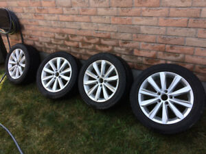 """17"""" 2012 VW Passat rims and tires 5x112, Great Condition!"""