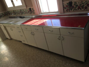 Vintage 1950s Youngstown Kitchen with Sink