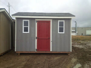 8'x12' Stained Board & Batten Garden Shed.