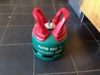 Patio gas empty bottle