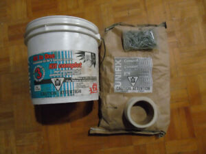 Cement Board Mix, Nails, Coated mesh  ALL IN ONE KIT InA Pail