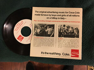 Original Coca-Cola 45 advertising record