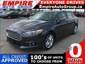 2015 FORD FUSION SE * 1 OWNER * LEATHER * SUNROOF * REAR CAM * B