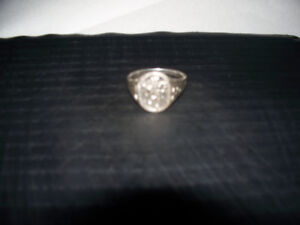 Mans Scotch Lion Ring Solid Sterling Silver