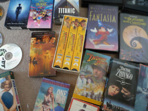 $10 for 5 DVDs/VHS Have a Variety Star Wars, Indiana Jones etc