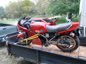 1983 honda vf750 f sports bike with ownership