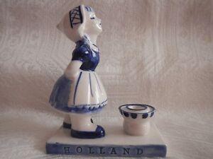 Vintage Porcelain Elesva Holland 757 Dutch Girl Candle Holder
