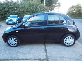57 NISSAN MICRA 1.4 16v SPIRITA AUTOMATIC 5D BLACK PEARL 34K LAST OWNER 8 YEARS