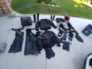 Assorted Motorcycle Gear.