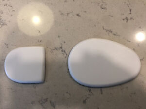 "Asham Curling Slider (front & back pieces ) 1/4"" teflon"