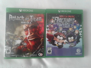 South Park and Attack on Titan XBOX One games