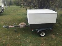 Covered tilt trailer