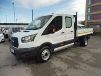 2017 FORD TRANSIT 350/130 DOUBLE CAB ALLOY TIPPER WITH UTILITY REAR STORAGE,ONLY