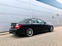"2012 12 Mercedes-Benz C63 AMG 6.3 Saloon + Black + Black leather + 19"" Alloys"