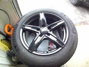 Roues mags DAI Revo noirs +pneus Michelins Primacy MXV4